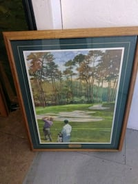 """Bart Forbes """"Cathedral of Pines"""" golf art Sacramento, 95823"""