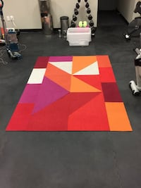 Flor Carpet Design Squares 5' x 7' Area Rug  This area rug features 25 carpet tiles. This area rug contains diagonal & rectangular cut tiles. To assemble your rug, just use the FLORdots in the box with your squares.  Dimensions: 5'x 7'   Offered for only  Toronto, M5P 2V5