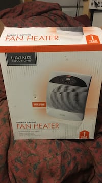 White and black living solutions fan heater box