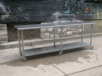 Stainless steel industrial table/counter  Toronto, M4Y