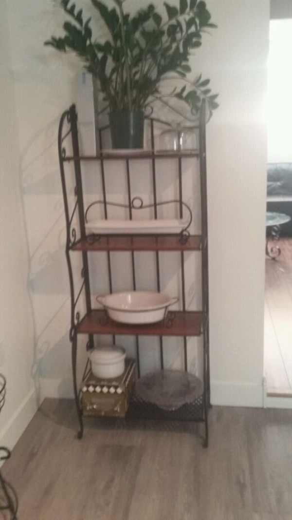Wrought Iron Folding Shelf