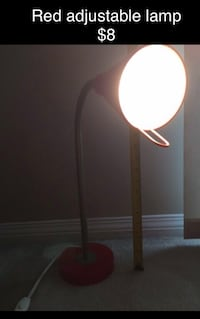 Red adjustable lamp Vancouver, V5L 4T3