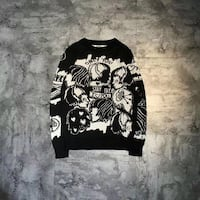 black and white printed sweatshirt 纽约市, 11367