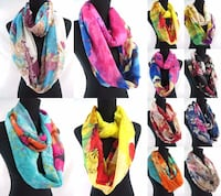 Wholesale 12 Assorted Infinity scarves