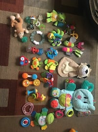 toddler's assorted toys