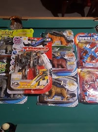 assorted transforming toys