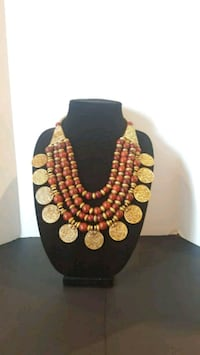 BEAUTIFUL AND EXCLUSIVE RED AND GOLD NECKLACE  Brampton, L6R 0W2
