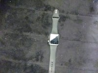 silver aluminum case Apple Watch with white sports band Towson, 21286