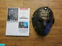 Friday the 13th Signed Jason mask.  WITH  C.O.A.