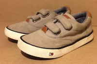 "Grey Hilfiger Brand ""Dennis Oxford Strap"" Style Velcro Sneakers Fairfield, 94533"