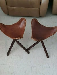 Hand crafted leather sattle stools Ottawa, K2C