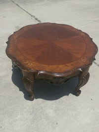 brown wooden round side table Brownsville, 78520