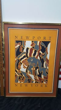 Vintage poster signed and numbered.  828 mi