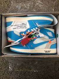 Jordan 1 Off-white UNC - Size 10 Broadview Heights, 44147