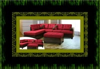 Red sectional with ottoman Rockville, 20847