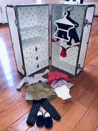 Authentic American Girl Trunk & Clothes