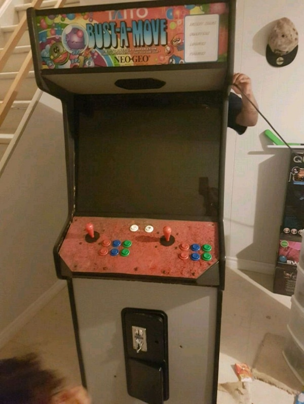 black and red SOCCER arcade machine