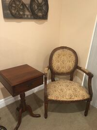 Antique chair and table  Fort Myers, 33912