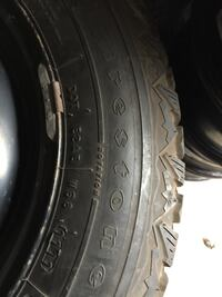 4 sat tires and rims  Firestone good condition only one used for three months 195/65/15/ Brampton, L6R 3M6