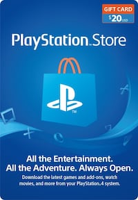 PlayStation playstore card $20 Hartford, 06106