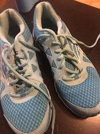blue-and-white athletic shoes