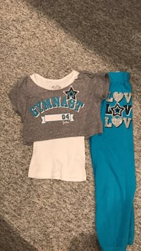 Justice gymnast shirt with sweat pants size 7 Carol Stream, 60188