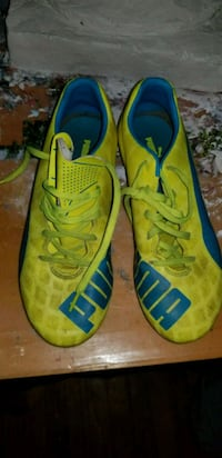 pair of yellow-and-blue Nike running shoes Takoma Park