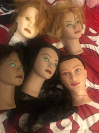 Mannequin heads, I have more to only a few shown. The price for each Indianapolis, 46202