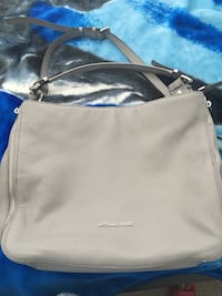 Women's light gray crossbody bag with two secret pockets on the side Vancouver, V6C
