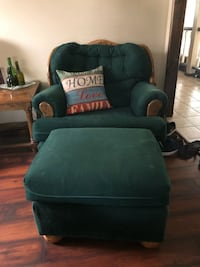 2 Emerald Green Chairs with Ottomans.$50.each. Cypress, 90630