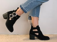 TopShop buckle booties, size 38 Burnaby, V5H 2V6
