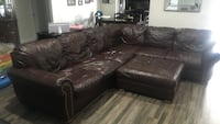 brown leather sectional sofa with ottoman Las Vegas, 89120