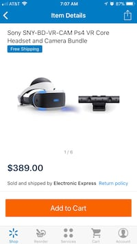 Sony SNY-BD-VR-CAM PS4 VR Core Headset and camera bundle screenshot