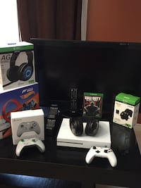 white Xbox One with wireless controller and game case London, N5X