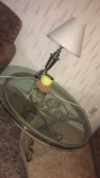 2 Glass living room tables and lamp Las Vegas, 89103