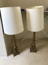 two black-and-white table lamps Honolulu, 96818
