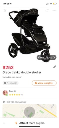 Graco double stroller rain cover included