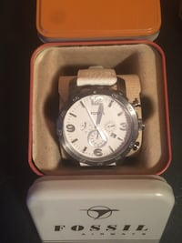 White and gray fossil chronograph watch Cedar Falls, 50613
