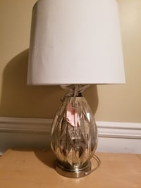 Sliver and white table lamp Toronto