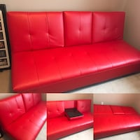 Leather futon sofa great condition Sherwood Park, T8A 6H2