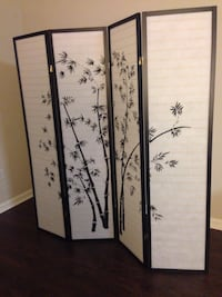 """New """"Bamboo"""" Privacy/Room Divider Silver Spring"""