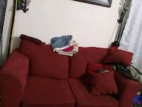 red soffa set.is a 3 seat couch also its a matchin Abilene, 79603