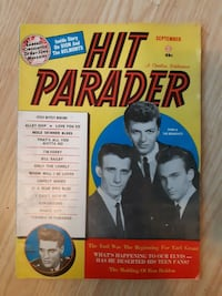 HIT PARADER MAGAZINE RARE BACK ISSUE-Sept 1960.  Condition is Good  (r