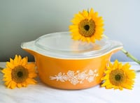Yellow Pyrex Butterfly Gold Pattern Mt Pleasant, 29464