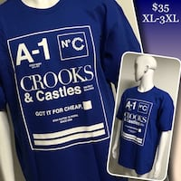 CROOKS & CASTLES tees available  Winnipeg, R2M 2T7