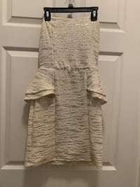 Off white and gold Mini dress size small
