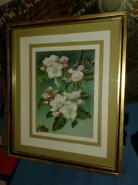 Vintage,flower painting signed,by de palma Lake Worth, 33463