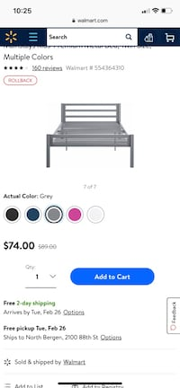 black and gray metal bed frame screenshot New York, 10455