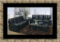 U6900 black bonded sofa and loveseat free delivery Falls Church, 22041