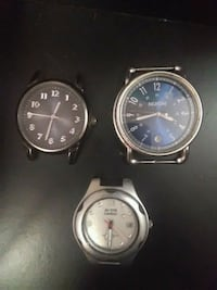 two round silver analog watches Edmonton, T5H 3M1